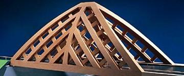 Eccezionale ponte di legno ad Akkerwinde