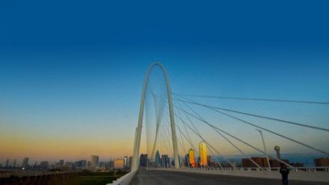 Santiago Calatrava inaugura il Margaret Hunt Hill Bridge a Dallas