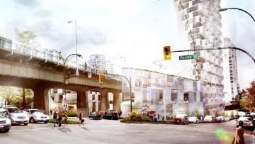 """La nuova """"Beach+Howe Tower"""" di Vancouver: una base triangolare per una torre rettangolare"""