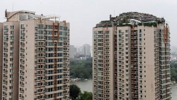 La villa abusiva sul tetto di un grattacielo