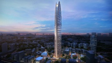 Un 'imbuto eolico' per la Pertamina Energy Tower