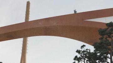La Canakkale Antenna Tower avra' la forma di un nastro ondulato