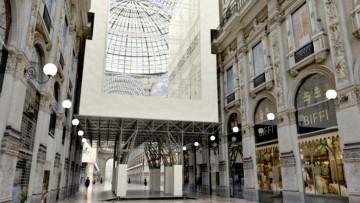 Un ponteggio 'sospeso' per il restauro della Galleria Vittorio Emanuele II a Milano