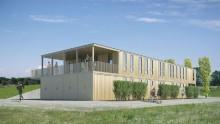 Il centro sportivo e' realizzato con container riciclati