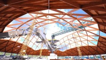 Maxi-cupole in legno per la centrale Enel, i dettagli del progetto