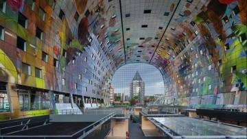Markthal Rotterdam di Mvrdv: il mercato e gli scavi di fondazione