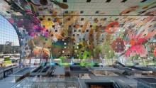 Markthal Rotterdam di Mvrdv: le serigrafie per i pannelli di alluminio interni