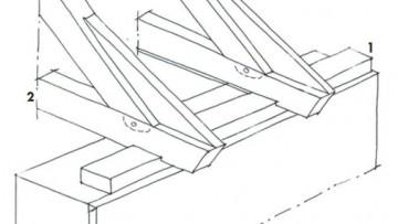 Strutture a capriate in legno di tipo moderno