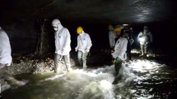 Seveso, la pulizia del tunnel sotterraneo in un video