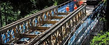 Bolzano: in 48 ore la provincia monta un ponte Bailey