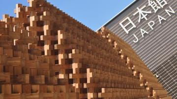 Expo 2015, il Padiglione Giappone e la facciata in legno 'ad incastro'
