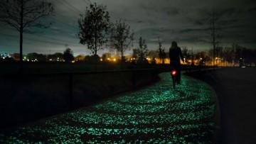 La pista ciclabile che si 'accende' di notte