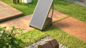 Il fotovoltaico 'atterra' in giardino