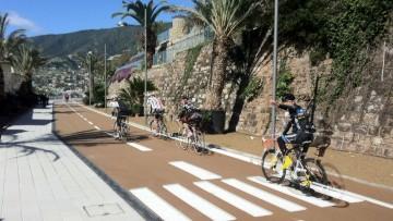 Il massello Quadro per una nuova pista ciclo-pedonale in Liguria