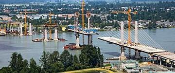 La realizzazione del ponte Golden Ears