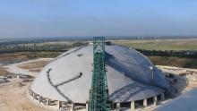 Centrale Enel di Brindisi: pronta la seconda cupola geodetica in legno