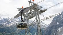 La nuova funivia del Monte Bianco Skyway e' completa