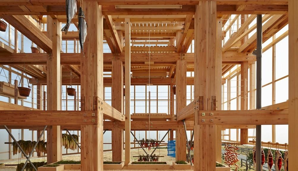 legno in edilizia la struttura a telaio di kengo kuma per berkeley. Black Bedroom Furniture Sets. Home Design Ideas