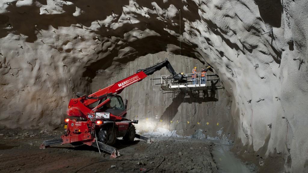 Un'immagine dal cantiere della Galleria di Base del Brennero (fonte: BBT)