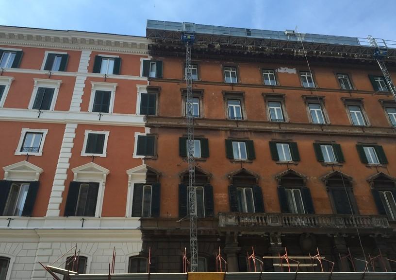 Palazzo Tenerani in Via Nazionale a Roma