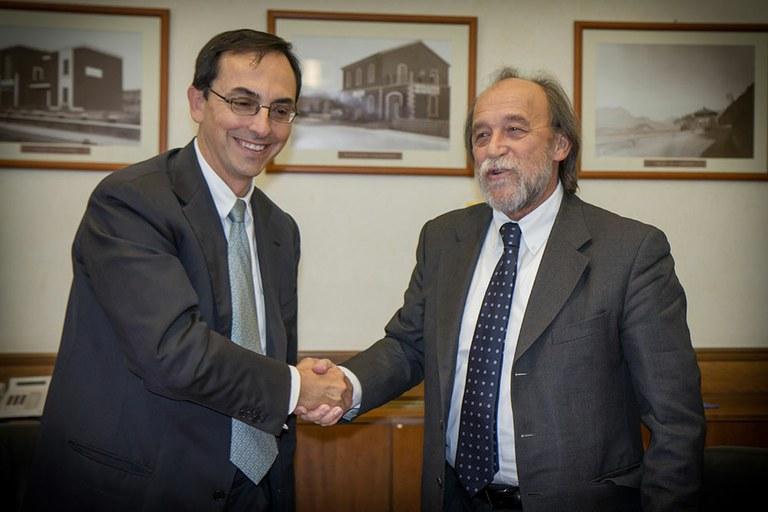 Gianni Vittorio Armani, presidente Anas, e Bernardo De Bernardinis, presidente Ispra (foto: Foto: Brunella Urbani per Ispra)