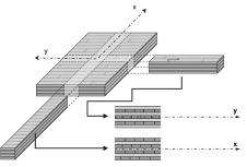 Bernasconi 7_FIG 1_Pannello XLAM come griglia di elementi lineari e multistrato (Disegno Andrea Bernasconi)