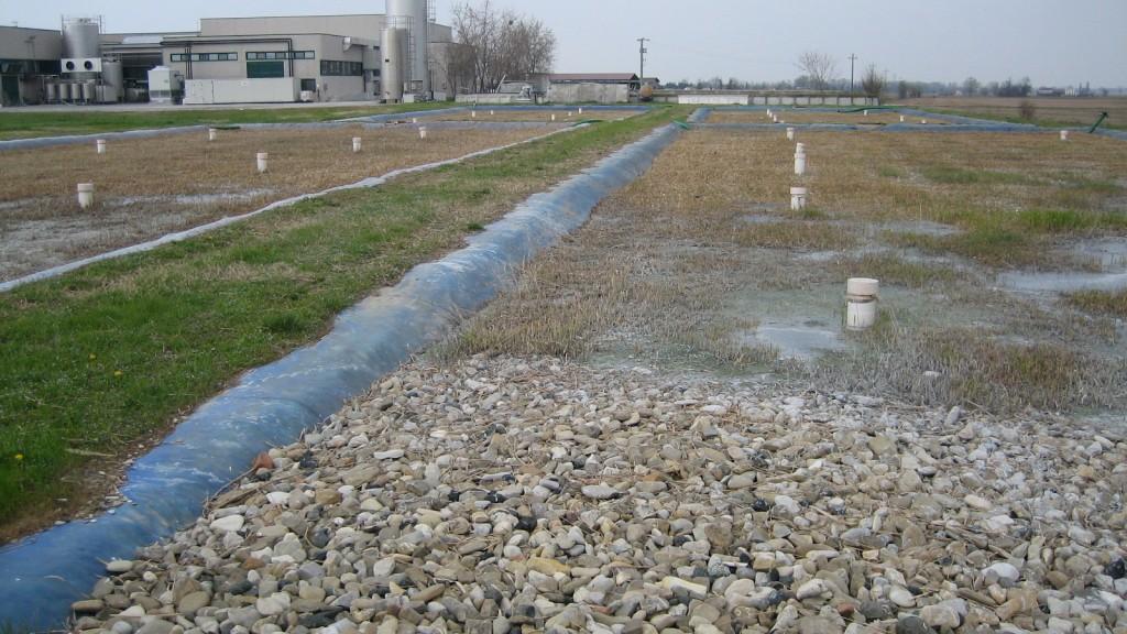 Batteria di vasche di fitodepurazione flottante per il trattamento della frazione fluida del digestato da impianto di biogas