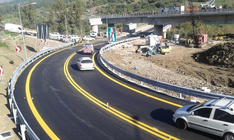 """La nuova bretella di collegamento A19 """"Palermo – Catania"""", direzione Palermo (fonte: Anas)"""