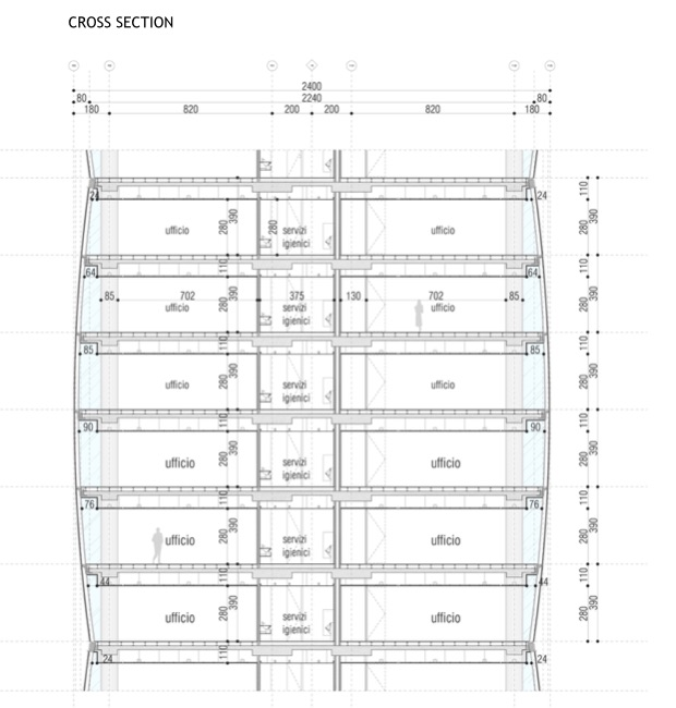 CityLife - Torre Isozaki - sezione - courtesy of webmagazine (2)