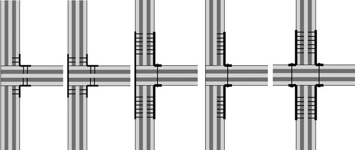 Bernasconi 10_FIG 3_Giunti puntuali con profili metallici applicati ai pannelli XLAM per strutture semplici (Disegno Andrea Bernasconi)