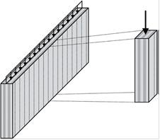FIG 2_Elemento di parete con funzione di discesa dei carichi verticali (Disegno Andrea Bernasconi)