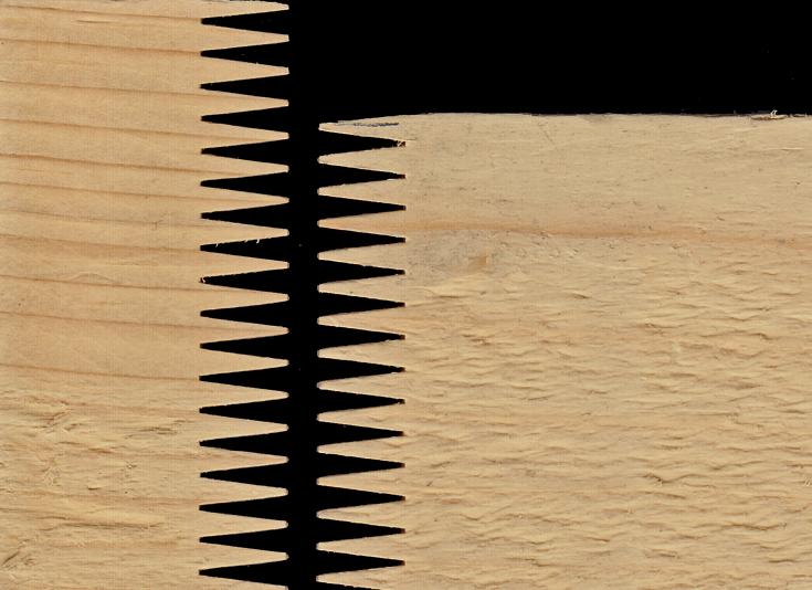 Giunto a pettine di tipo verticale (Foto Davide Maria Giachino)