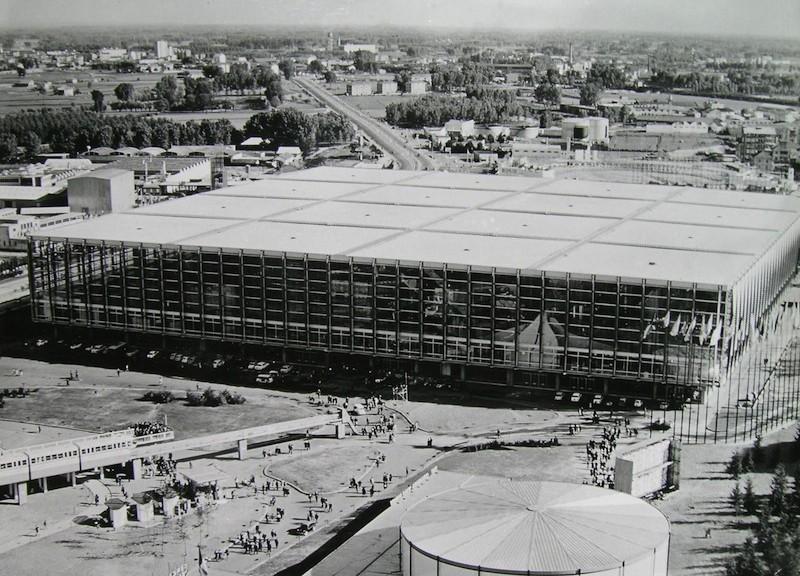 Foto dell'inaugurazione del Palazzo del Lavoro, fonte: Archivio Storico Fiat