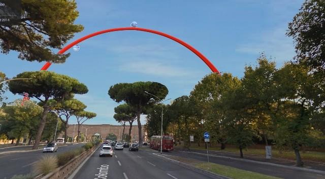 Un arco panoramico per Roma 2024: la proposta di un ingegnere
