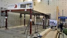 I sistemi ibridi acciaio-legno dell'Università di Trento passano il test dei carichi