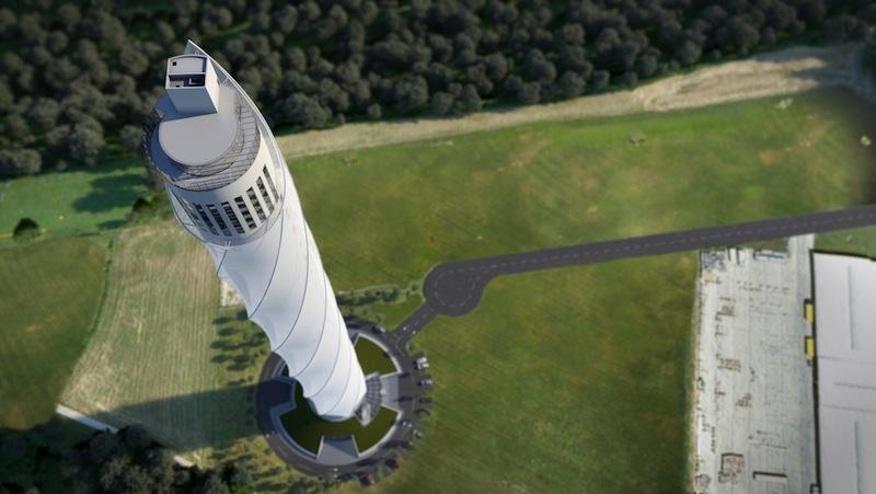 Render della torre di test di Rottweil (fonte: ThyssenKrupp)