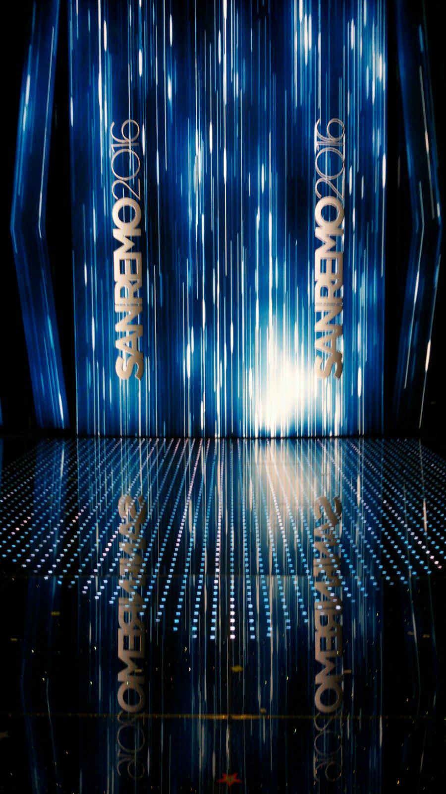 Sanremo 2016 palco Saint-Gobain Glass