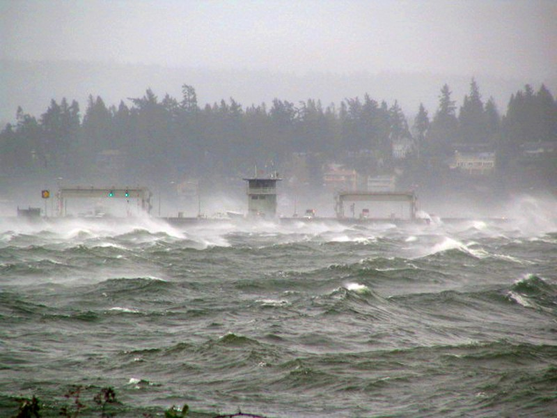 Tempesta sul Washington Lake – © Washington State Department of Transportation