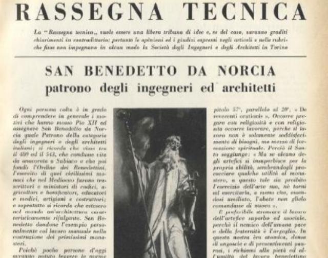 """Estratto da """"S.Benedetto da Norcia patrono degli Ingegneri"""" di Sergio Bini (fonte: Aicq/Ordine ingegneri Roma)"""