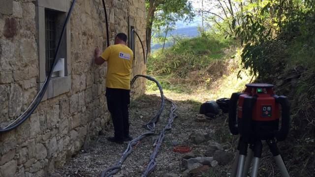 Consolidamento fondazioni di un antico acquedotto romano for Consolidare un terreno