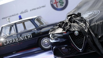La nuova Alfa Romeo Giulia Quadrifoglio per i Carabinieri