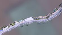 Il rilievo aerofotogrammetrico CAD di una scogliera