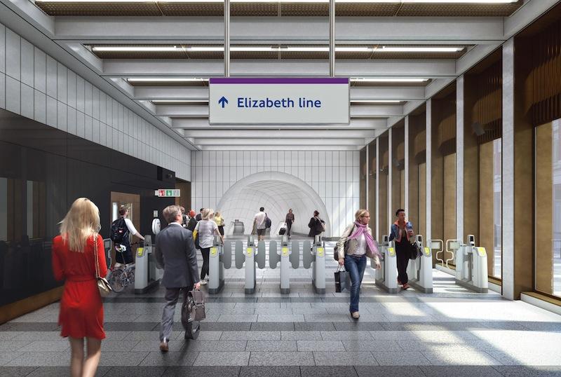 Elisabeth Line sarà il nome della nuova rete ferroviaria di Londra © Crossrail Limited