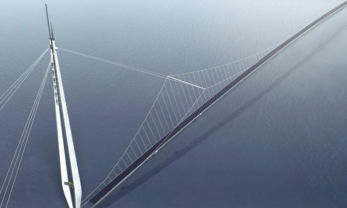 Prospettiva dall'alto del pilone (foto: Studio Tecnico Majowiecki)