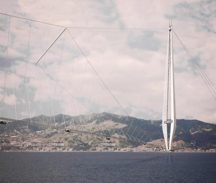 Prospettiva dal basso del pilone (foto: Studio Tecnico Majowiecki)