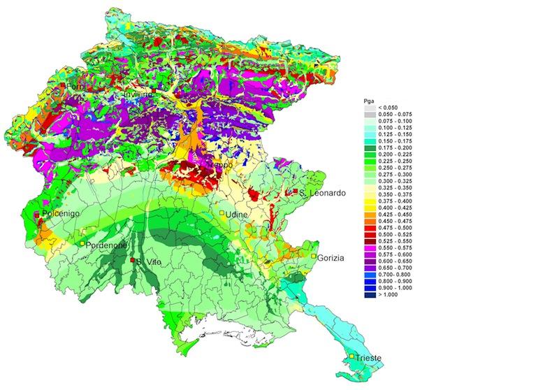 Riclassificazione sismica del Friuli Venezia Giulia