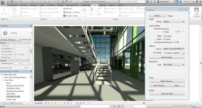 Una schermata di Revit 2017 (Image courtesy of Autodesk)