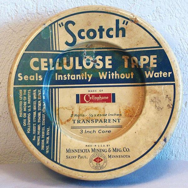 Una delle prime confezioni in alluminio di Scotch