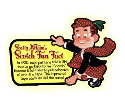 Scotty McTape, la mascotte dello Scotch, con la vicenda legata al nome del prodotto