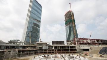 Torre Libeskind di CityLife a Milano: la posa della prima pietra